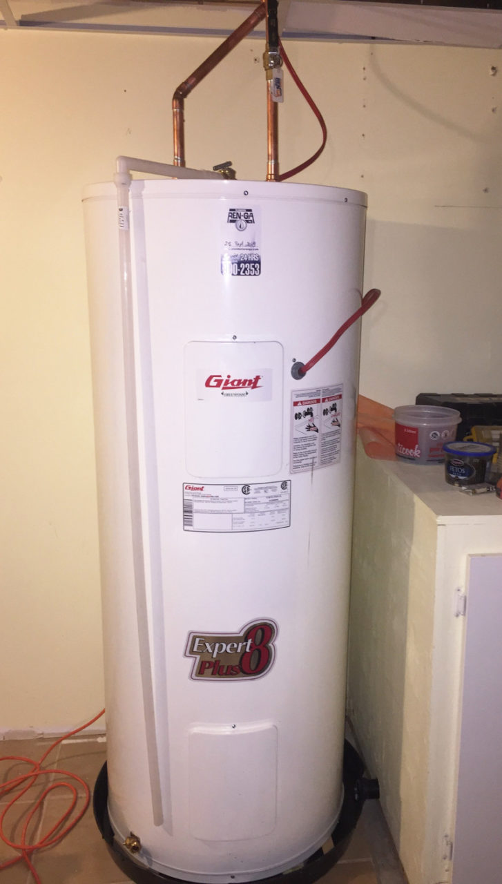 chauffe-eau, Installation de chauffe-eau, Plomberie Ren-Ga